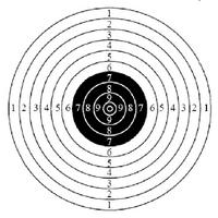 Koulutaulu pistooli 600x550mm 500kpl
