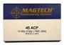 45ACP FMJ 14,9g/230gr 50ptr Magtech